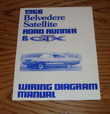 1968 Plymouth Belvedere Satellite Road Runner & GTX Wiring Diagram Manual 68