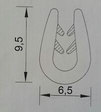 20m schwarz 0.5-2mm Fassungsprofil  Kantenschutz Gummidichtung Gummiprofil Keder
