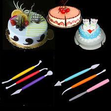 10 Pcs/Set Muticolor DIY Cake Fondant Gum Paste Decorating Modeling Baking Tools