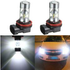2er 60W H8 H11 2835 LED 12 SMD Samsung Nebelscheinwerfer Weiß Tagfahrlicht Auto