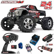 Traxxas 67054-1 1/10 Stampede 4X4 Truck 4WD Silver RTR w/ TQ Radio / iD Battery