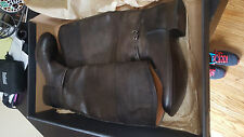 FRYE $428 75445 Melissa Seam Tall Slate Washed Antique Women's Boots SZ 8 NIB
