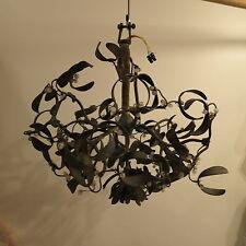 Lustre boule de gui art nouveau  4 lampes  diametre 42