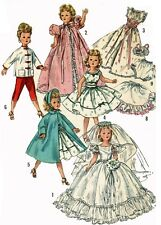 Vintage Doll Clothes PATTERN 1808 for 21 in Revlon Cissy doll by Ideal
