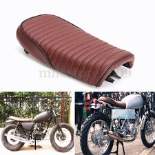 Brown Waterproof Cafe Racer Motorcycle Seat Hump Saddle Cover For Honda CG125