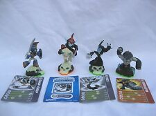 Skylanders Chop Chop Fright Rider Hex Terrafin Figure Lot w/ 3 Cards 1 Sticker
