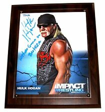WWE TNA HULK HOGAN SIGNED PLAQUE WITH PICTURE PROOF COA 1