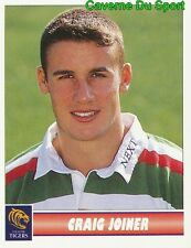 073 CRAIG JOINER  LEICESTER TIGERS STICKER PREMIER DIVISION RUGBY 1998 PANINI