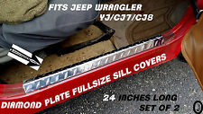 JEEP WRANGLER YJ-CJ7-CJ8 Diamond Plate  Fullsize ENTRY GUARDS / SILL COVERS