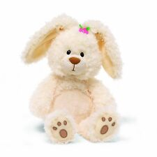 Magnolia Easter Bunny by Gund 13 Inch Plush Rabbit Pink Flower Paw Pads Doll Toy