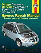 Chrysler Voyager Town and Country Haynes Repair Manual 2003 to 2007 #30013
