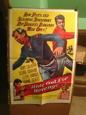 RIDE OUT FOR REVENGE-RORY CALHOUN,LLOYD BRIDGES-1957-ORIGINAL MOVIE POSTER
