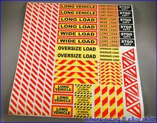 Tamiya 1/14 14th Scale Truck Safety Warning Sign Decals Kit Scania Volvo Wedico
