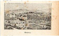 Stampa antica GORIZIA veduta panoramica in miniatura 1905 Old print