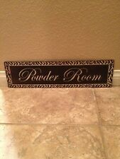 Powder Room Tin Sign 19x5 Bathroom Decor Zebra Print Fast Shipping