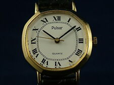 Vintage Retro Pulsar Womens Quartz Dress Watch Circa 1980s New Old Stock NOS