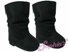 "Black Slouch Boots by Sophia's - For American Girl® Dolls & Other 18"" dolls"