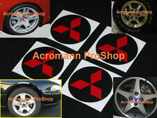 "4x 2.2"" 5.5cm 55mm Mitsubishi Cap decal sticker diamond center wheel Eclipse EVO"