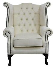 Chesterfield Queen Anne High Back Fireside Wing Chair Perla Chiffon Velvet