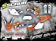 SCRUB KTM EXC 450 - 525 '03 Grafik Sticker Dekor-Set Enduro 2003