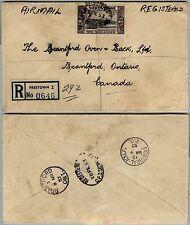 SIERRA LEONE 2S-Raccomandata aerea Freetown- Brantford(Canada) 28.2.1953