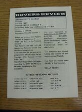 24/07/1997 Bromsgrove Rovers v Stoke City [Friendly] (Four Pages).  We are pleas
