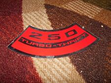 CHEVROLET 250 CID TURBO-THRIFT TURBO THRIFT AIR CLEANER TOP LID DECAL STICKER