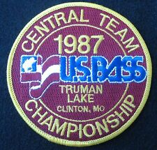 BASS CHAMPIONSHIP EMBROIDERED SEW ON PATCH CENTRAL TEAM MISSOURI FISHING FISH