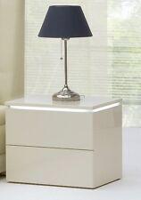 Design Luxus Nachtschrank Nachttisch Lounge Schrank Holz Weiß LED SL22 NEU!