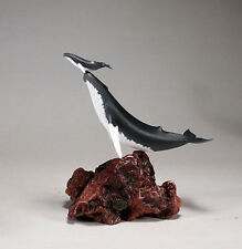 HUMPBACK WHALE Statue & Calf New direct from JOHN PERRY 11in tall Figurine Decor