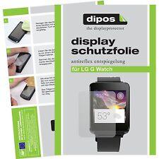 6x dipos LG G Watch matte Displayschutzfolie passgenau Antireflex Testsieger