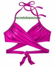 36C Victoria's Secret Neon Lotus Wrap Halter Bikini Swim Top NWT