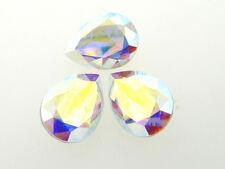 Swarovski Foiled Pear Stones Art.4320 18x13mm Crystal AB 3 Pieces cc