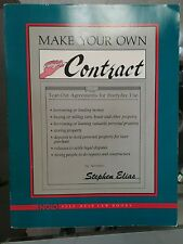 Make your own contracts Elias 1.3 nolo self help law book