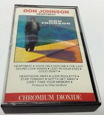 DON JOHNSON Tape Cassette HEARTBEAT 1986 Epic Records Canada OET-40366