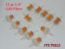 New 12pcs Fuel Gas Filters For Universal Scooter Motorcycle Dirt Bike ATV 1/4""