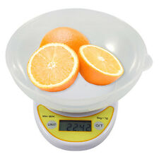 Digital Kitchen Scale Compact Diet Food 5KG 11LBS x 1g+Bowl Electronic Weight OY