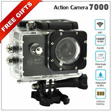 2'' LTPS Full 1080P HD SJ7000 Sports Action Camera Camcoder Wifi LED 170 UK Plug