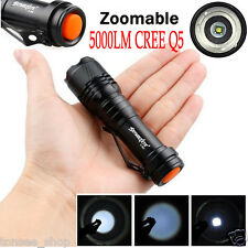 ZOOMABLE 5000LM CREE Q5 AA/14500 3 Modes LED Taschenlampe Fackel Super Hell Neu