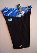 SPEEDO Blue RIVERS & TIDES Powerplus Men's Nylon/Lycra Jammer Swimsuit NWT - 38