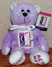 "ACS American Cancer Society ""Hope"" RFL Relay for Life Plush Bear 2002 - NWT"