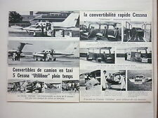 1968 PUB CESSNA AIRCRAFT AVION FLUGZEUG SKYWAGON UTILITYTWIN 180 185 FRENCH AD