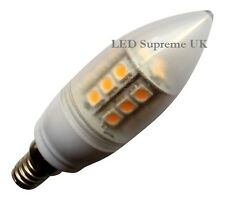 E14 SES 24 SMD LED 380LM 3.8W White Candle Bulb ~50W