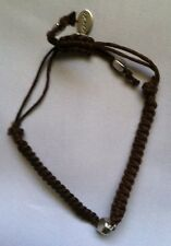 AMERICAN EAGLE OUTFITTERS BRAIDED ADJUSTABLE LEATHER BRACELET BROWN