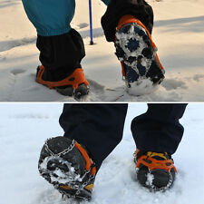 Outdoor 12-Teeth Points Climb Ice/Snow Boot Shoe Covers Crampons Cleats Gripper