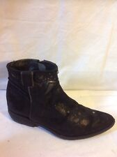 Khrio Black Ankle Leather Boots Size 37