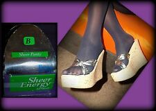 Shiny, Navy Pantyhose, Sheer Pantie, Sheer Toe, B/M, L'eggs