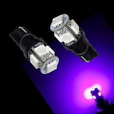 10Pcs T10 194 5SMD 5050 LED Light Bulb Auto High Bright PURPLE current fixed
