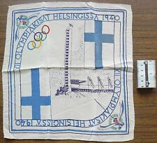 Finland Olympic Games Helsinki 1940 High Quality Silk Kerchief NICE & RARE