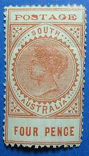 1902 SOUTH AUSTRALIA 4d SCOTT# 122 S.G.# 269 UNUSED                CS16609